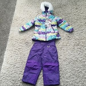 32 DEGREES 2 Piece Snow Bib and Jacket Set Girl
